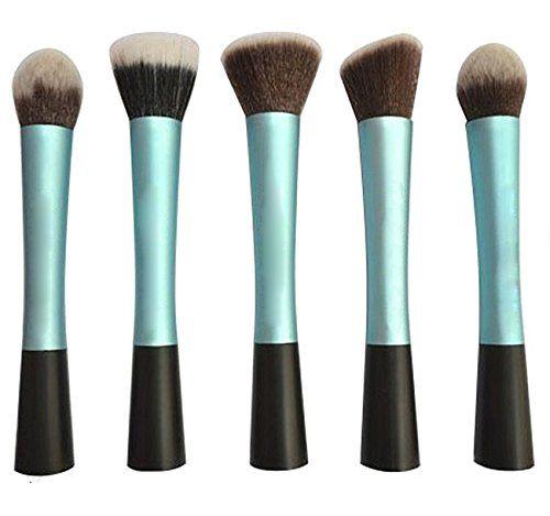 Lychee Neverland Lot de 5pinceaux de maquillage professionnels pour fond de teint/ poudre/ blush