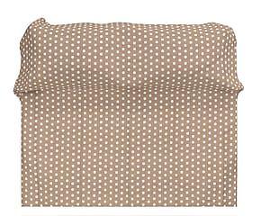 Copriletto matr. in cotone BigPois marrone - 260x280 cm
