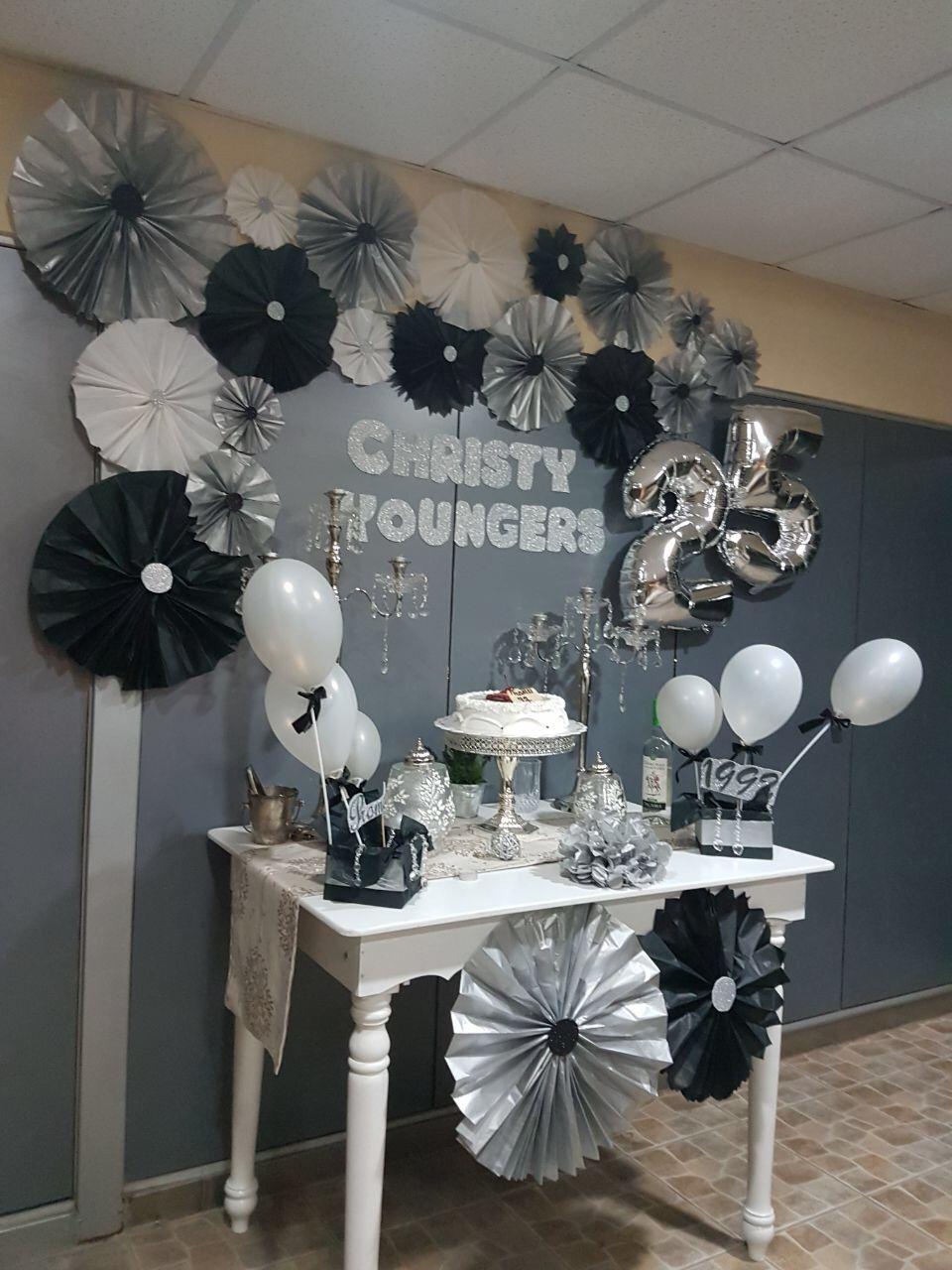 Decoraci n bodas de plata de promoci n de colegio reve - Decoracion para bodas de plata ...