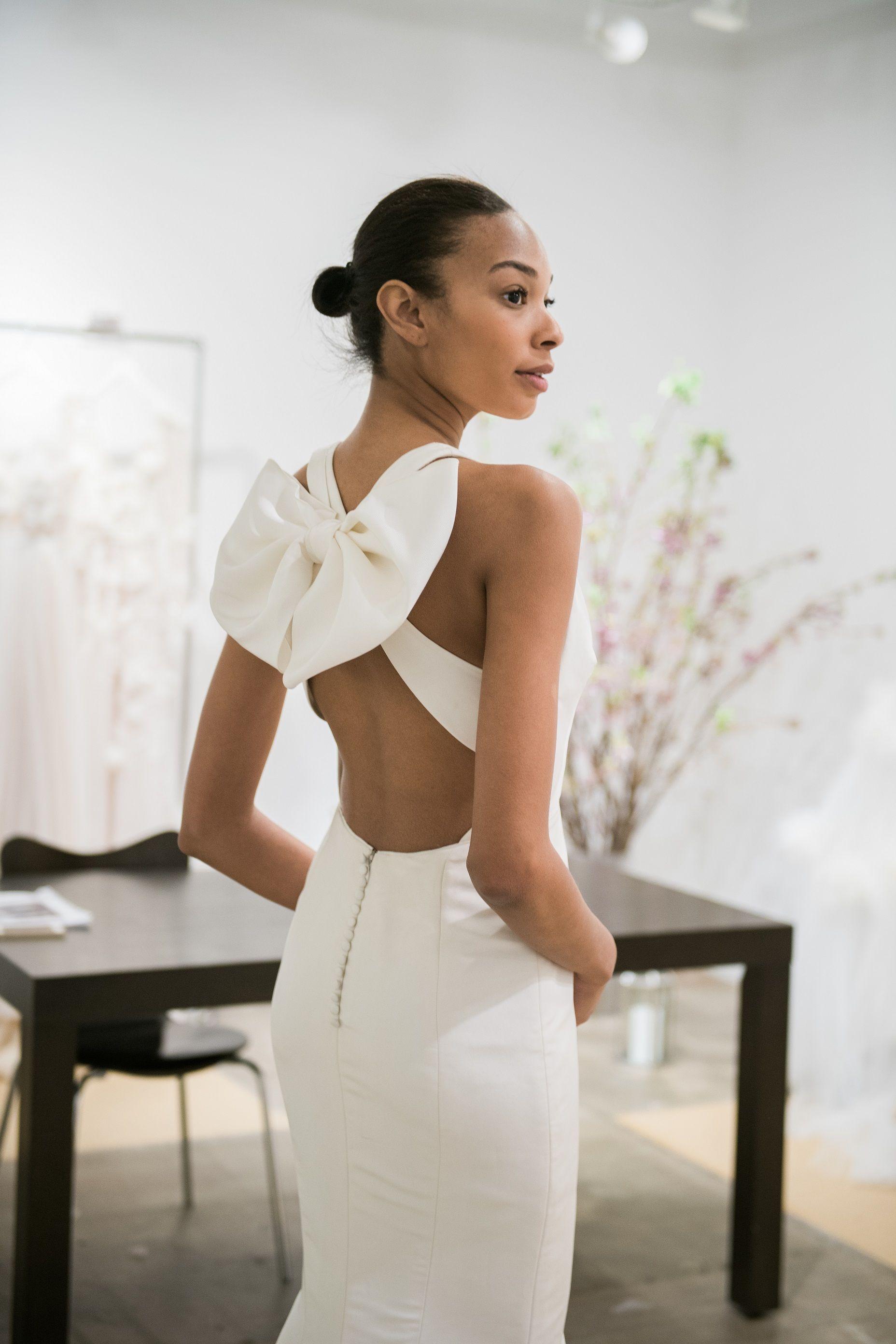 Marchesa wedding dress from Solutions Bridal. Bow wedding dress (bow ...