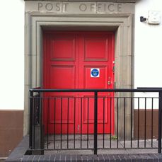 Post office red door Chepstow