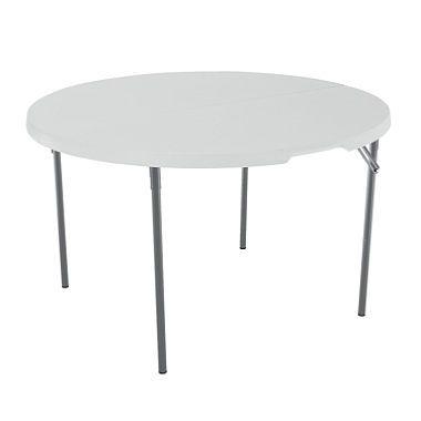 Lifetime 4 Fold In Half Table White Granite Sam S Club Round Folding Table Folding Table Half Round Table