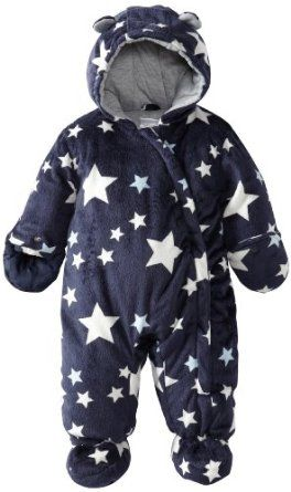 Carter/'s Infant Boys Navy Micro Fleece Pram//Snowsuit Size 0//6M