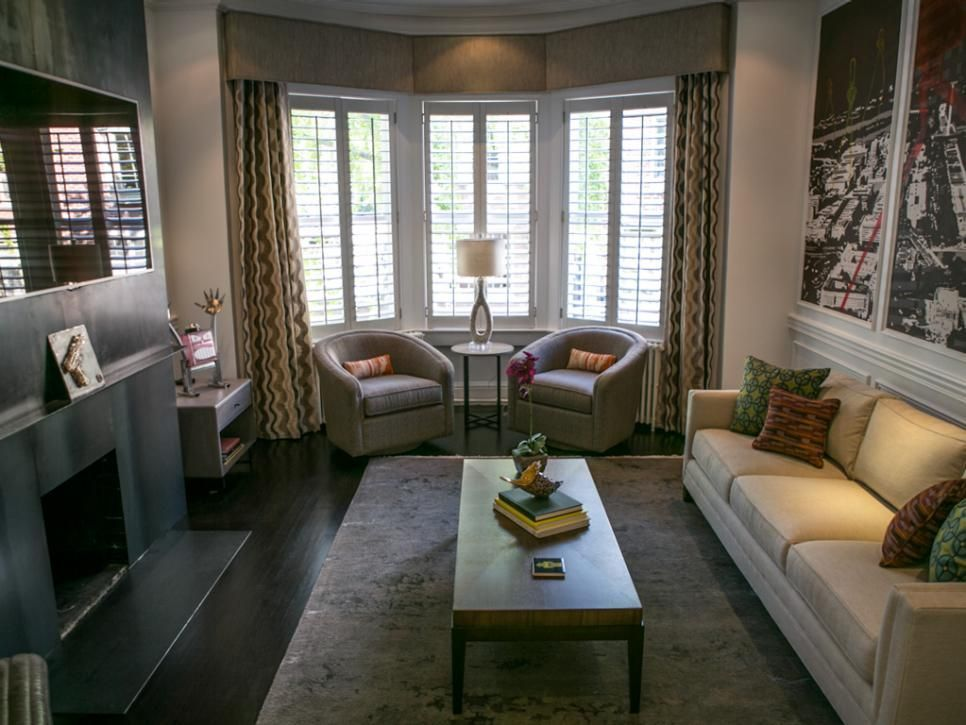 Window Treatments 20 Cornice Styles To Steal Livingroom Layout Bay Window Living Room Living Room Windows #window #seat #ideas #living #room