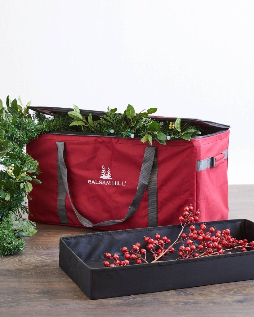 Holiday Organizing 101 Storing Wreaths And Garlands With Images Christmas Tree Storage Bag Christmas Tree Storage Christmas Storage Boxes