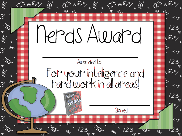 Candy AwardsPdf End Of The Year Certificates  End Of The Year
