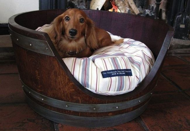 Weekend Projects 5 Easy To Make Pet Beds Wine Barrel Dog Bed Barrel Dog Bed Diy Dog Bed