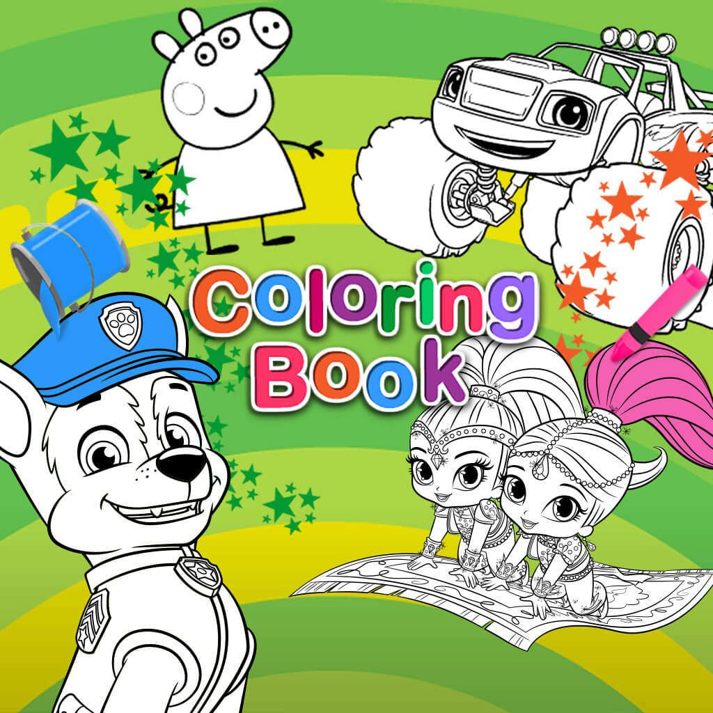 - Peppa Pig Preschool Games On Nick Jr. Coloring Books, Paw Patrol