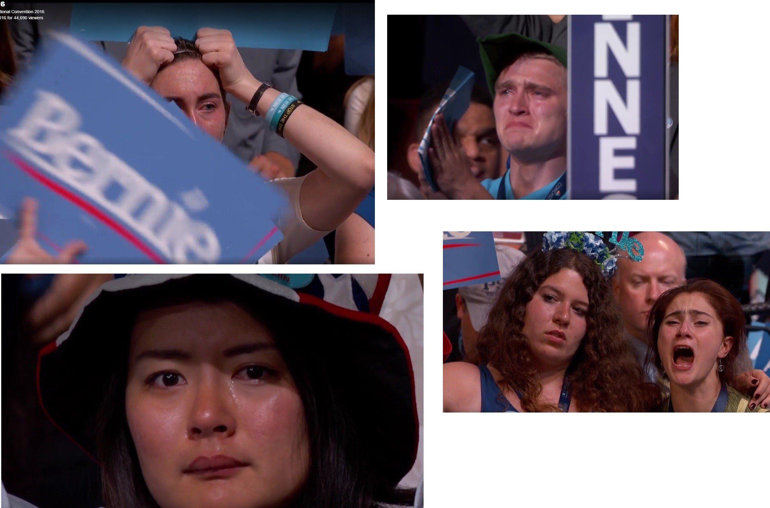 Crying Bernie Sanders Supporters Bernie Sanders Bernie Sanders Speech Bernie