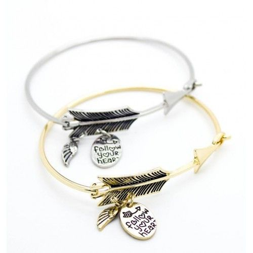 """FOLLOW YOUR HEART "" BRACELET"