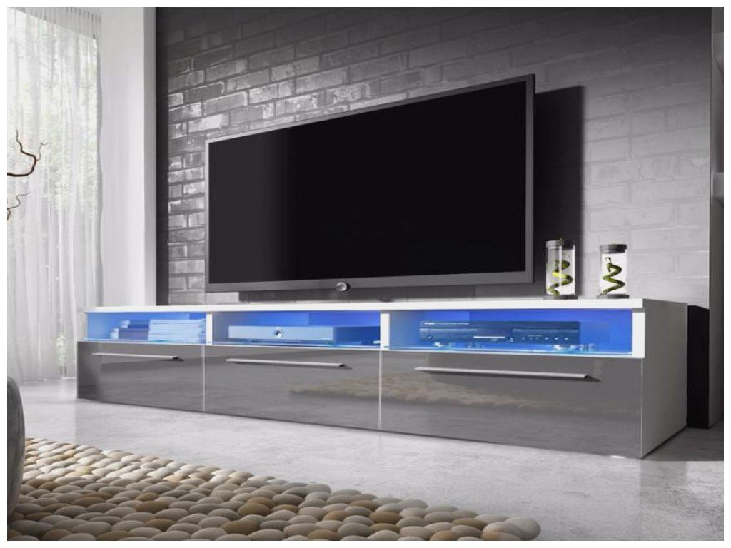 beau meuble tv gris a led meuble tv