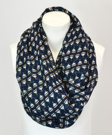 Another great find on #zulily! Navy Sailboat Infinity Scarf #zulilyfinds