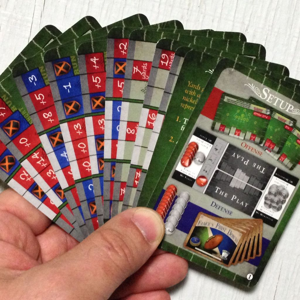Challenging two player football card game, Famous First
