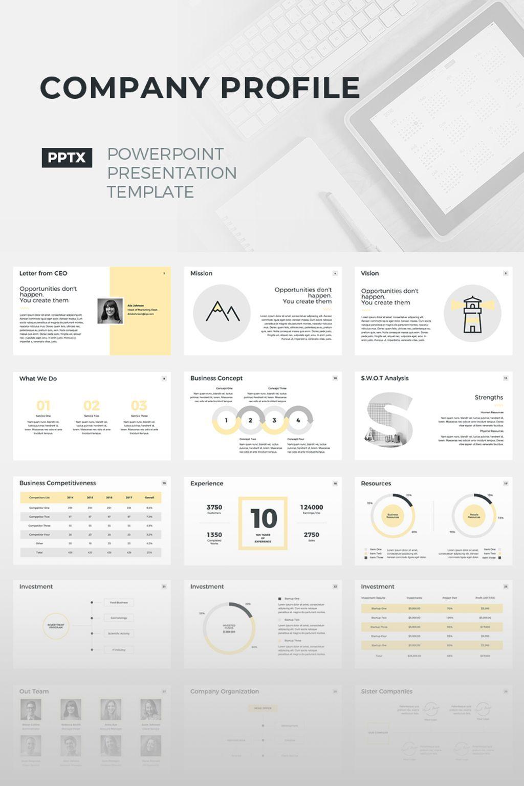 Company Profile Powerpoint Template 67157 Pengasuh Pengasuh Anak