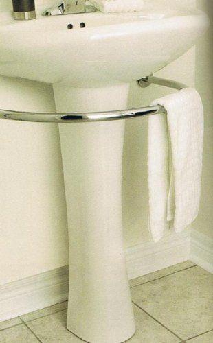 Luxury towel Bar Under Pedestal Sink