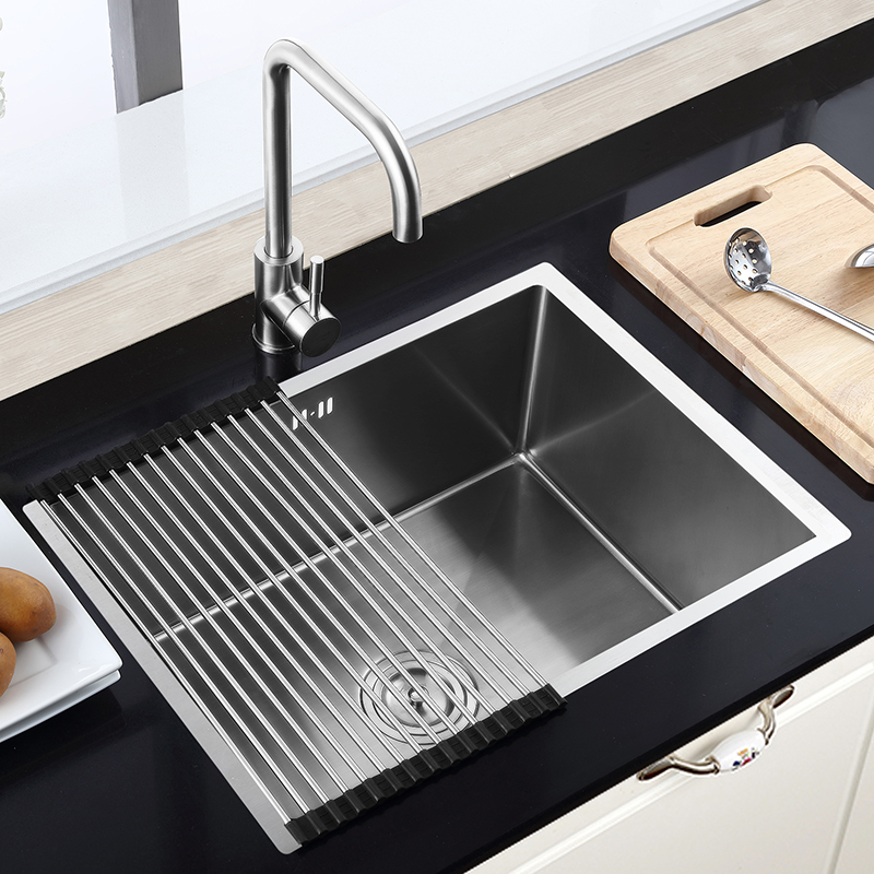 Stainless Steel Single Bowl Sink Top Mount Kitchen Sink Faucet Not Included Hm6045 Modern Kitchen Sinks Top Mount Kitchen Sink Stainless Steel Kitchen Sink