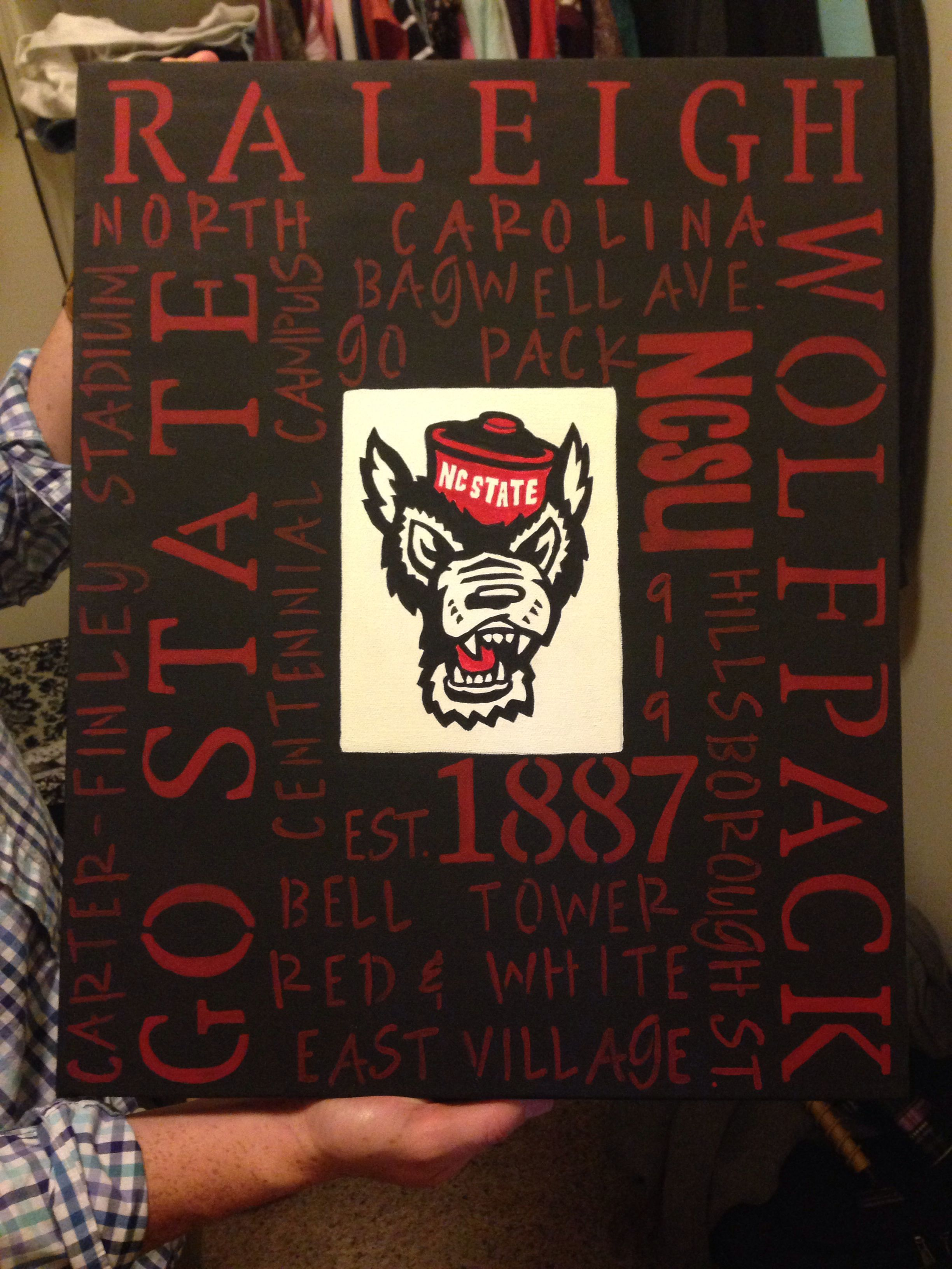 Nc State Canvas State Canvas Diy Letters Creative Abilities