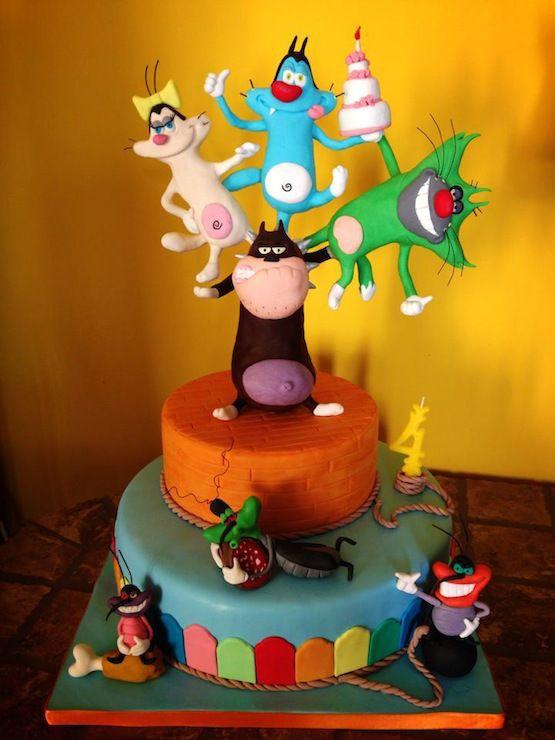 Torta Compleanno Oggy E I Maledetti Scarafaggi.Torte Oggy E I Maledetti Scarafaggi Torte Scarafaggi E Dolci
