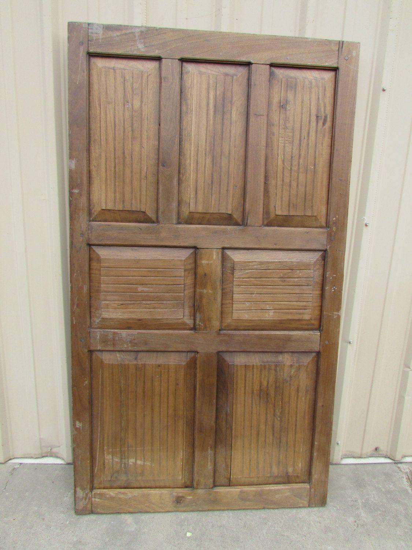 Antique Single Hard Wood Mexican Old Door-Primitive-Rustic-40x71x1.5 ...