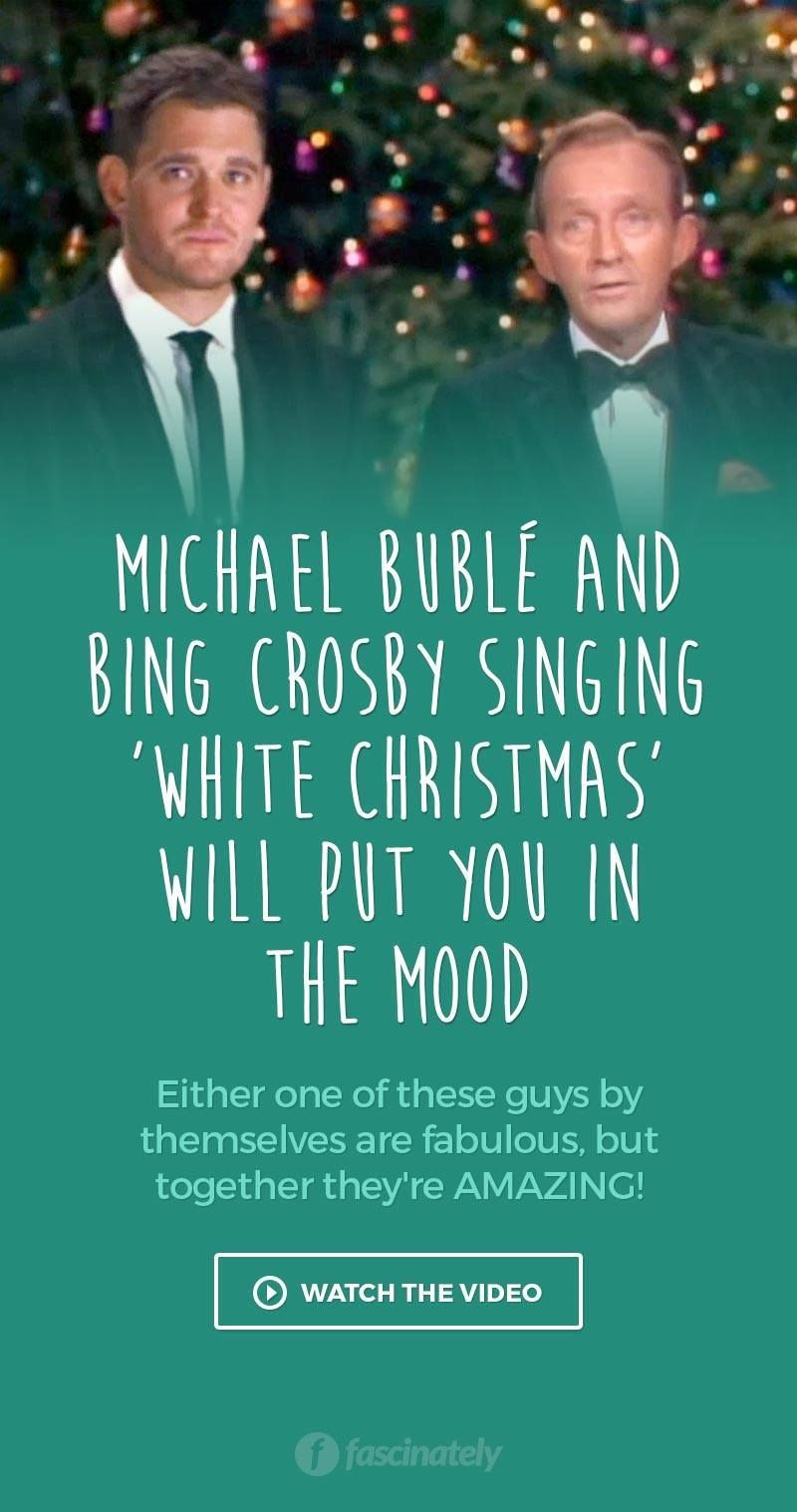 Michael Buble White Christmas.Michael Buble And Bing Crosby Singing White Christmas Will
