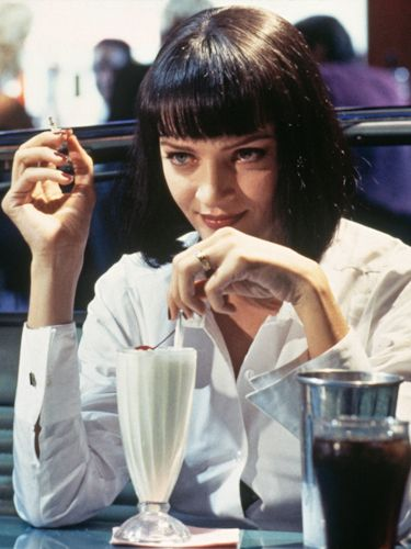 The 40 Most Iconic Bobs Of All Time Iconic Movie Characters Pulp Fiction Female Movie Characters