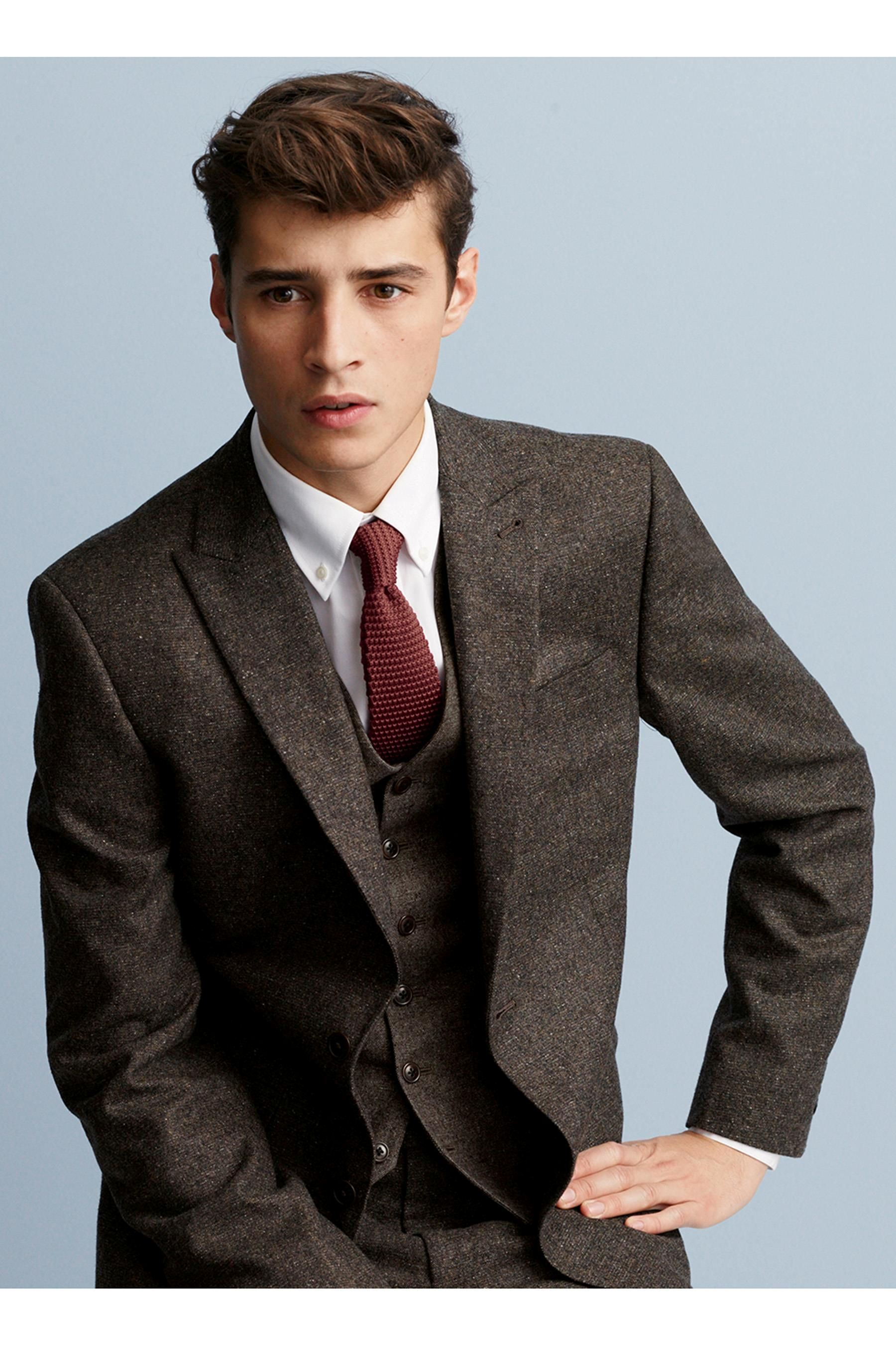Buy Brown Donegal Suit: Jacket from the Next UK online shop ...