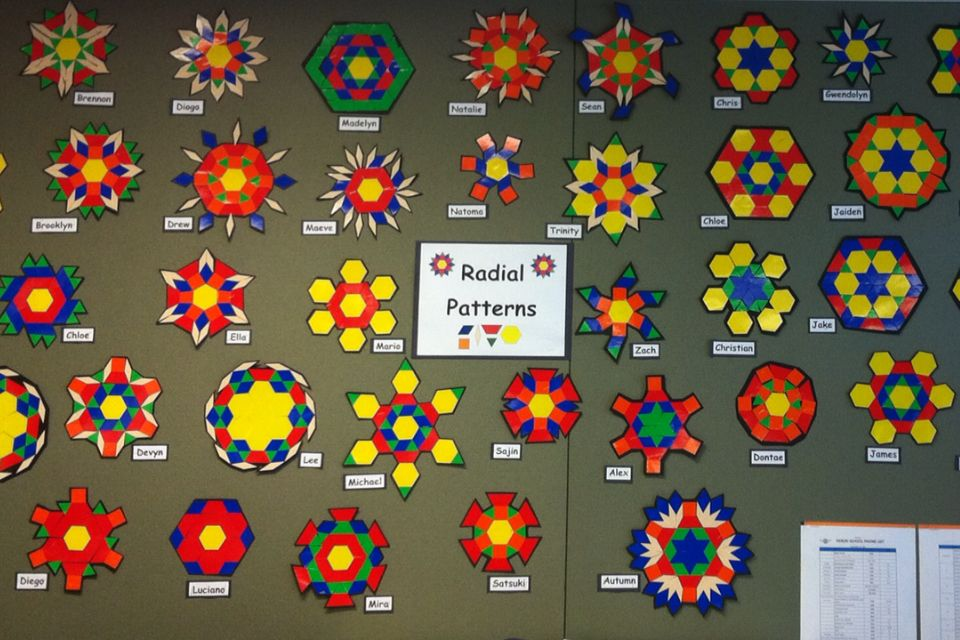 geometric pattern stickers make fun math and art project
