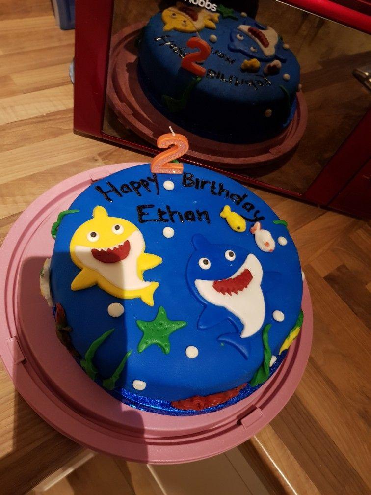 Baby shark cake 1st attempt so proud homemade cakes