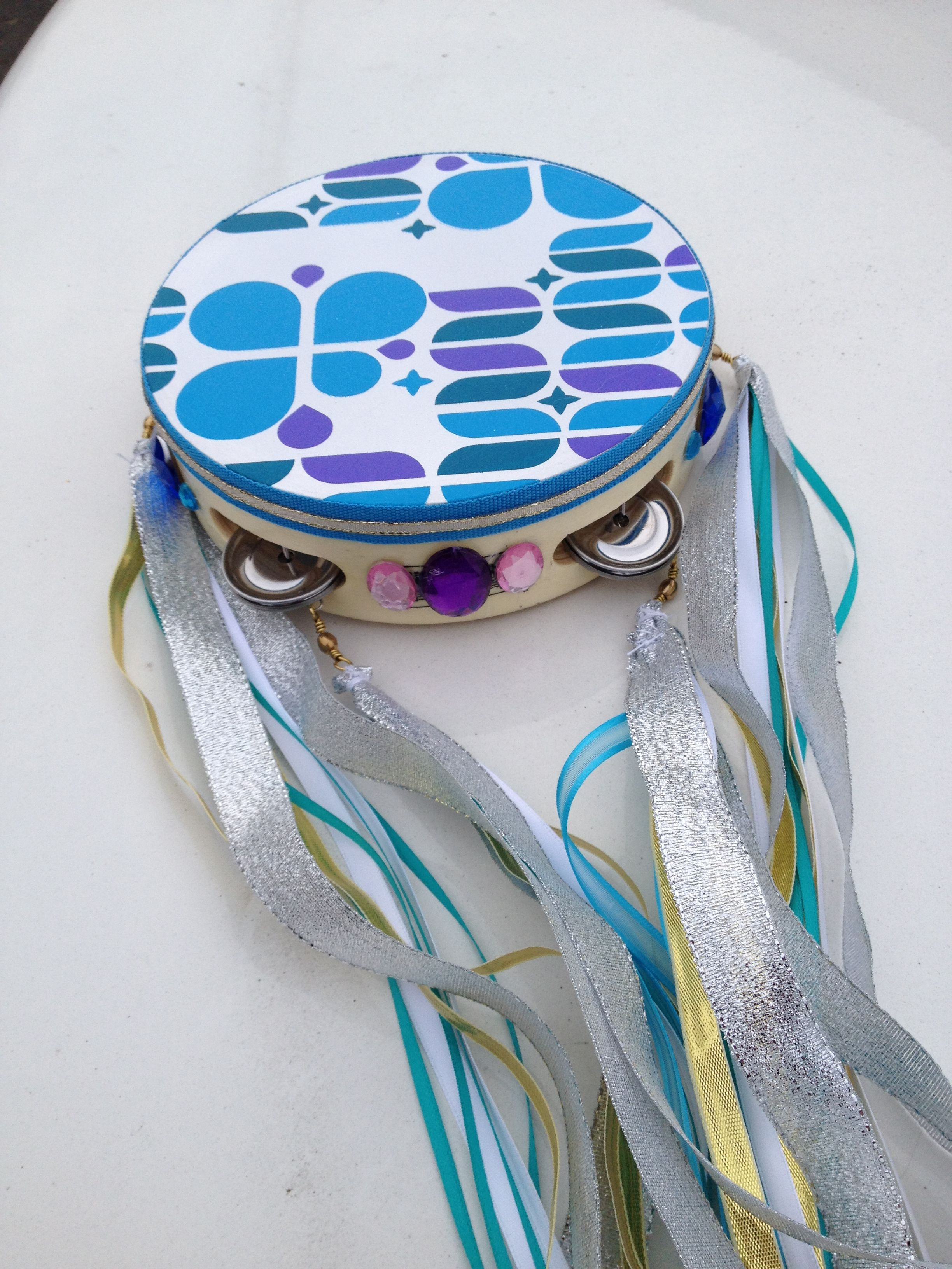 Fountain Of Joy Tambourine Carol Decorated For A Friend