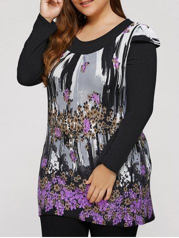 GET $50 NOW | Join RoseGal: Get YOUR $50 NOW!http://www.rosegal.com/plus-size-dresses/plus-size-dress-with-flowers-946458.html?seid=2275071rg946458