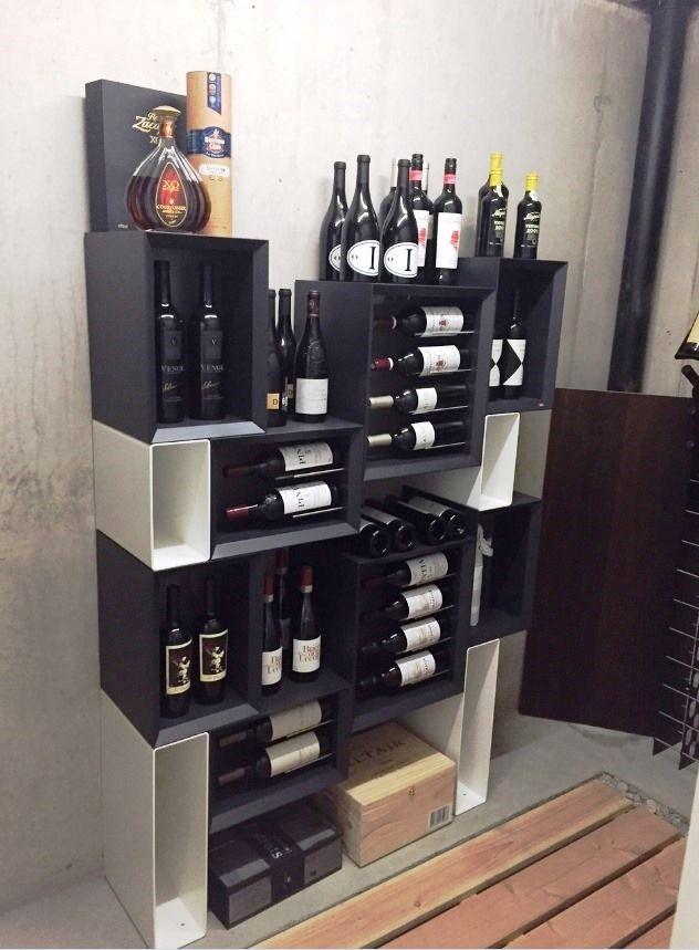 Arredamento esigo per cantina con portabottiglie vino for Arredamento cantina vino