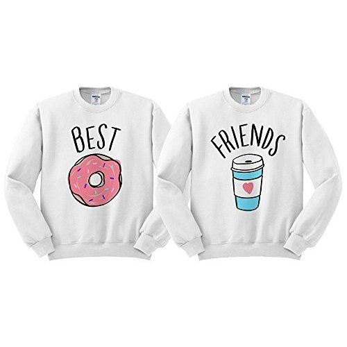 cbb0771ff79bac Matching BFF Sweatshirts for Best Friends - You re the Cheese to My  Macaroni at Amazon Women s Clothing store