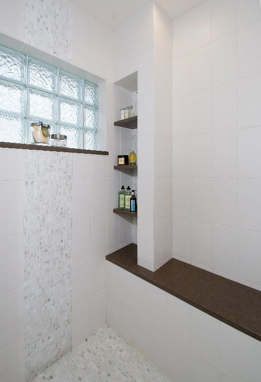 Recessed Shelves And Window Ledge In Shower For Soaps And Shampoo Shower Shelves Built In Shower Shelf Bathroom Redesign