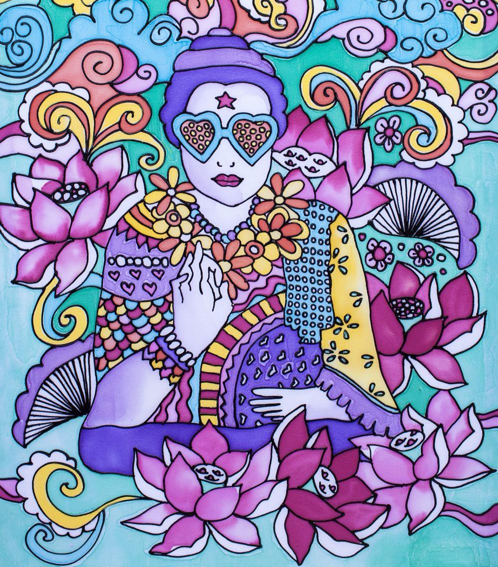 Buda de colores  Artista Radha