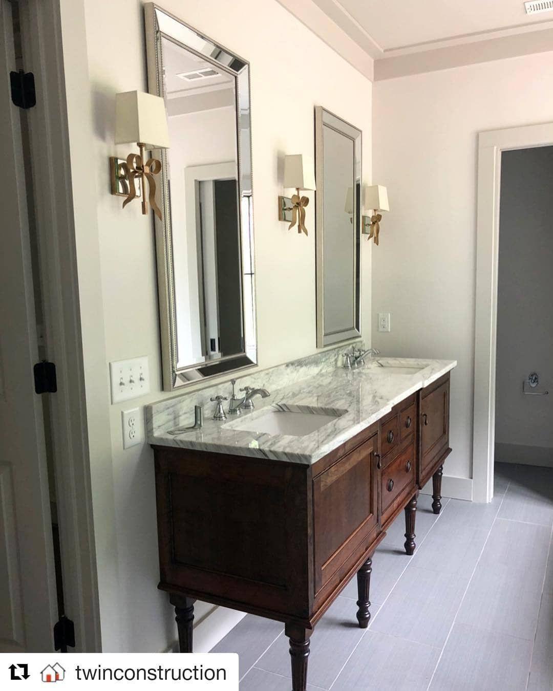a beautiful custom piece repost twinconstruction on custom bathroom vanity plans id=47320