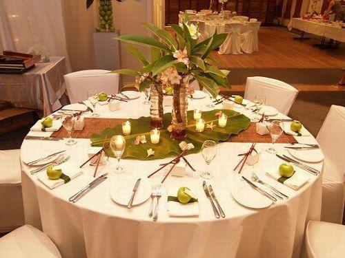 modele decoration de table exotique pour mariage