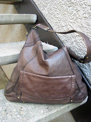 253c82aae33 Fossil Gray Leather Montreal Hobo Handbag Bag Used Purse   Purses ...