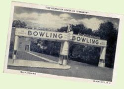 The Playdrome Bowling Alley Vintage 1930s Union City Nj Postcard Bowling Bowling Alley Union City