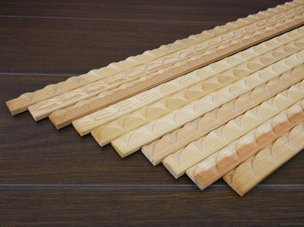 10 Zierleisten 6x19x1000mm Zierleisten Holzleisten Holzperlen