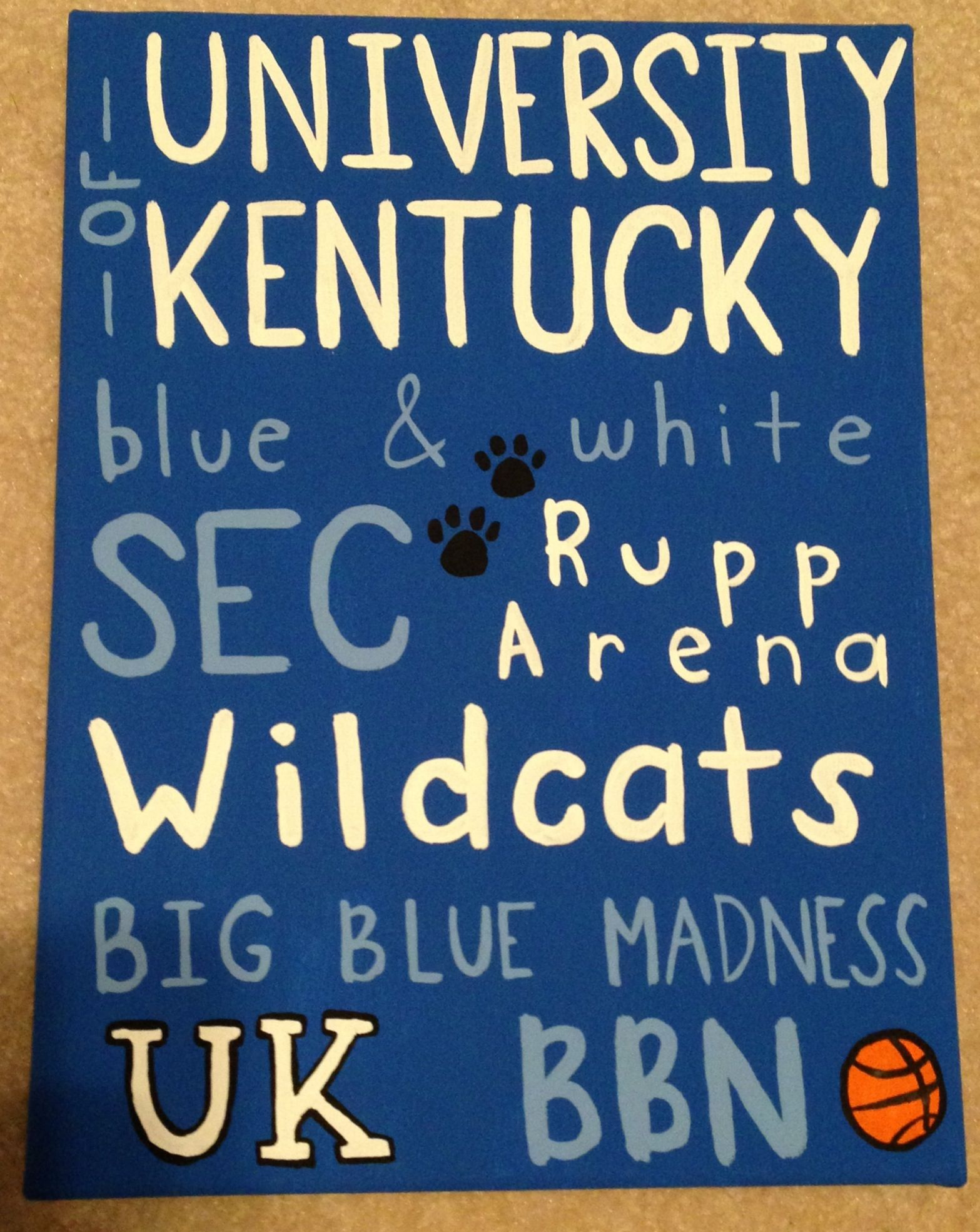 University Of Kentucky Painting I Made For Aj Do It Yourself