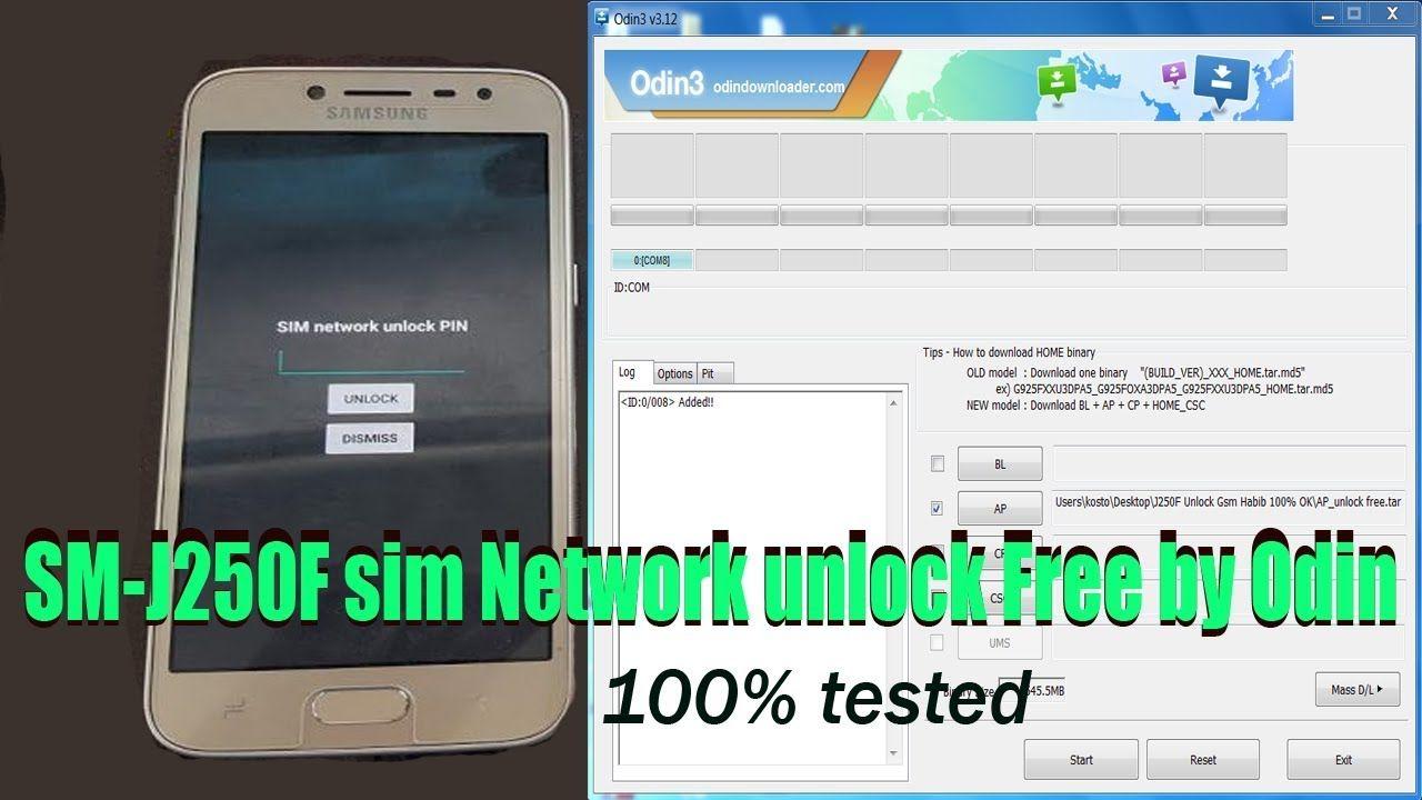 Samsung galaxy grand prime pro SM-J250F SIM Network unlock