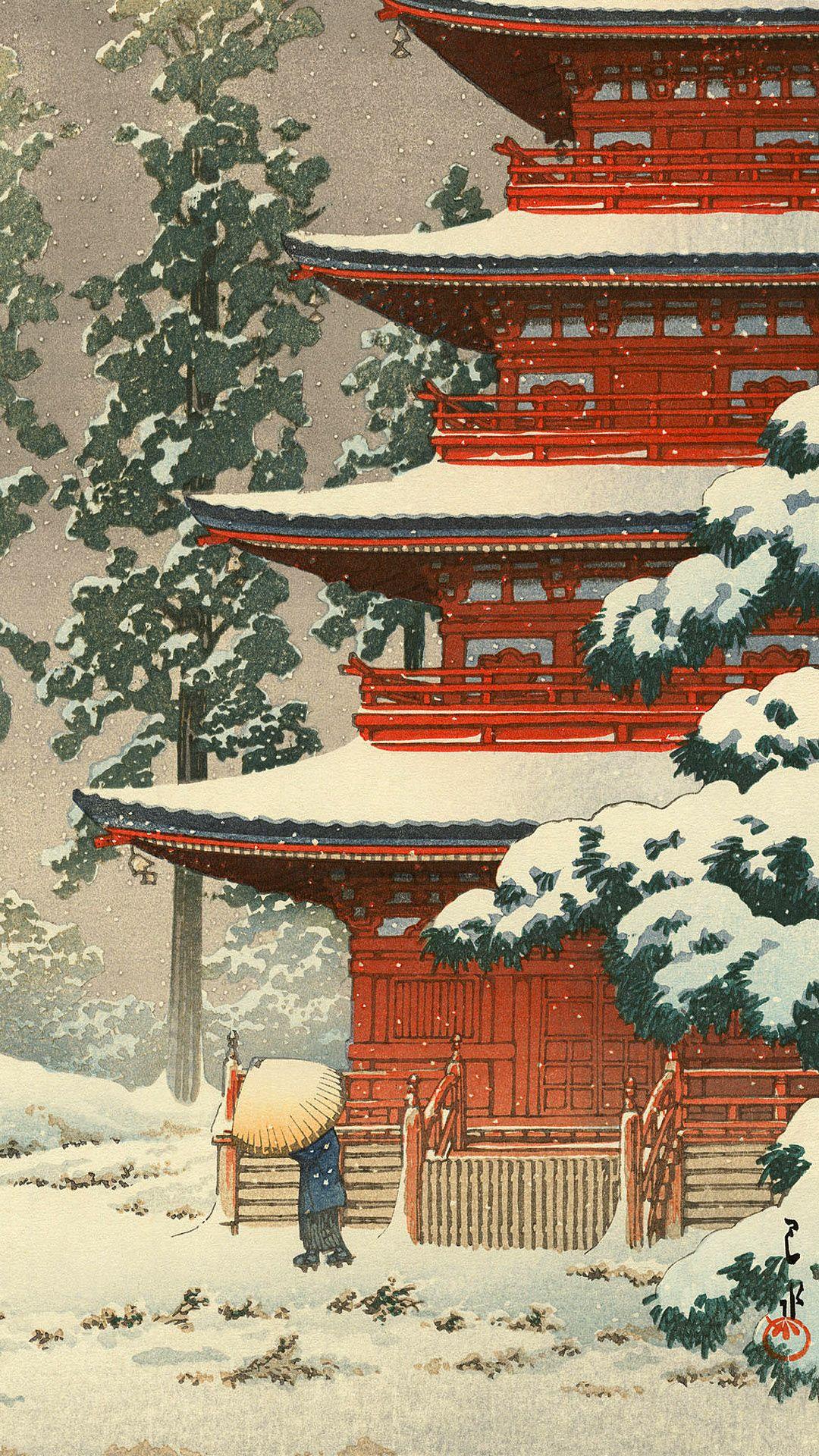 川瀬巴水 / 日本風景集 東日本篇 弘前最勝院 | 壁紙ギャラリー KAGIROHI