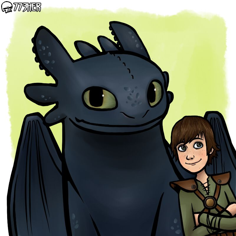 Toothless And Hiccup by 773HER.deviantart.com on @deviantART