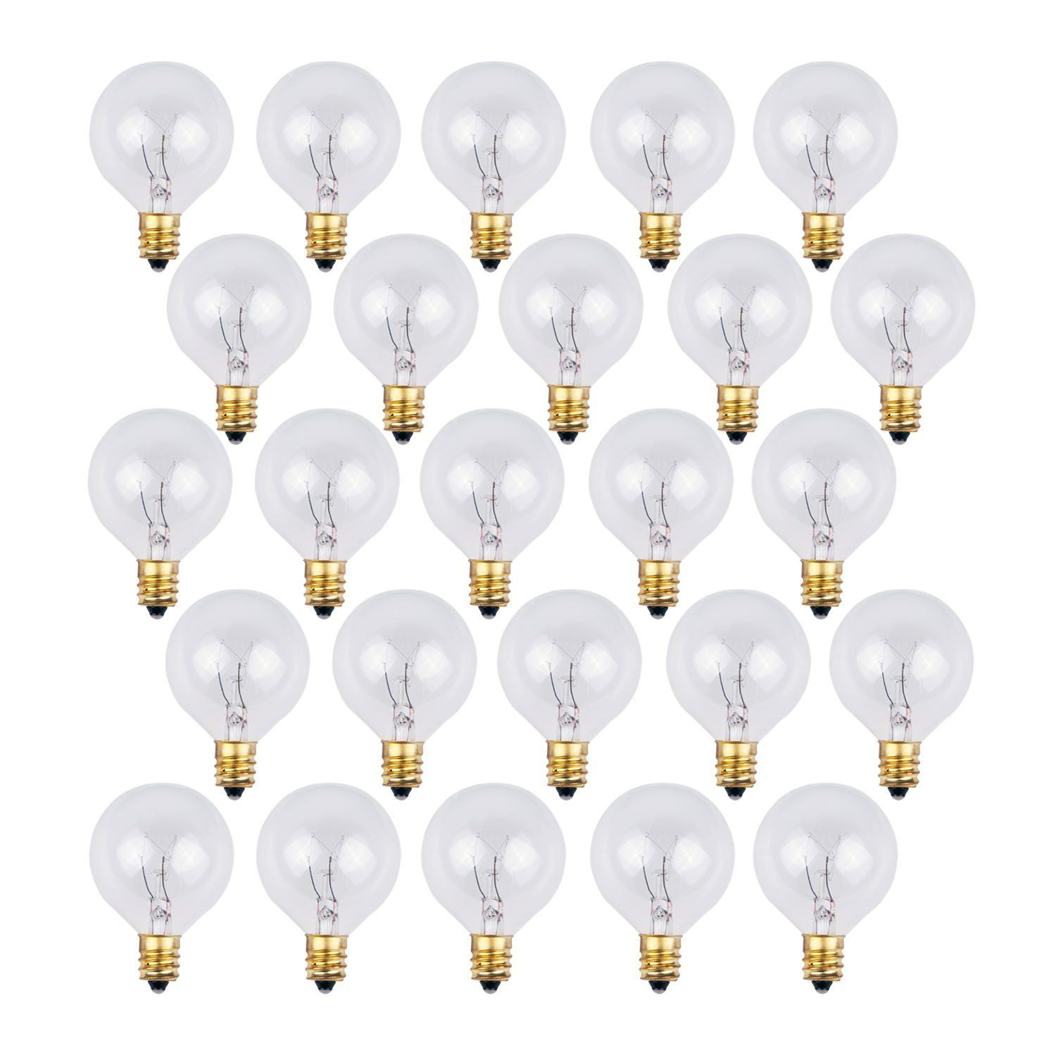 Replacement Bulbs For String Lights Endearing 25 Pack  Clear G40 Globe Light Bulbs For Patio String Lights Fits Design Decoration