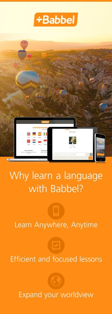 Start learning one of our 14 languages with a free first