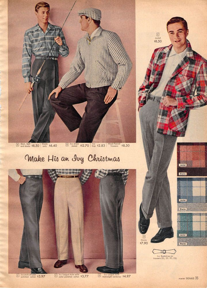 1957 Mens Trousers 1950s Fashion Menswear Vintage Outfits Vintage Outfits Classy