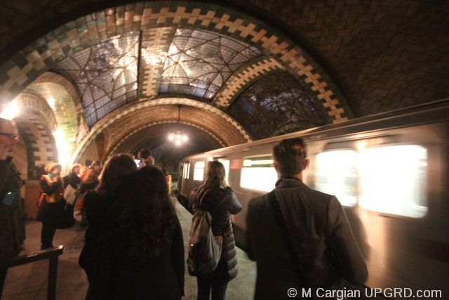 A tour of old city hall station in Nee York, closed since 1945 | The MTA Transit Museum in New York City offers tours throughout the year of old stations, artwork in the stations and nostalgia rides. Generally tours sell out to museum members before being opened to the public, and some tours are for members only.