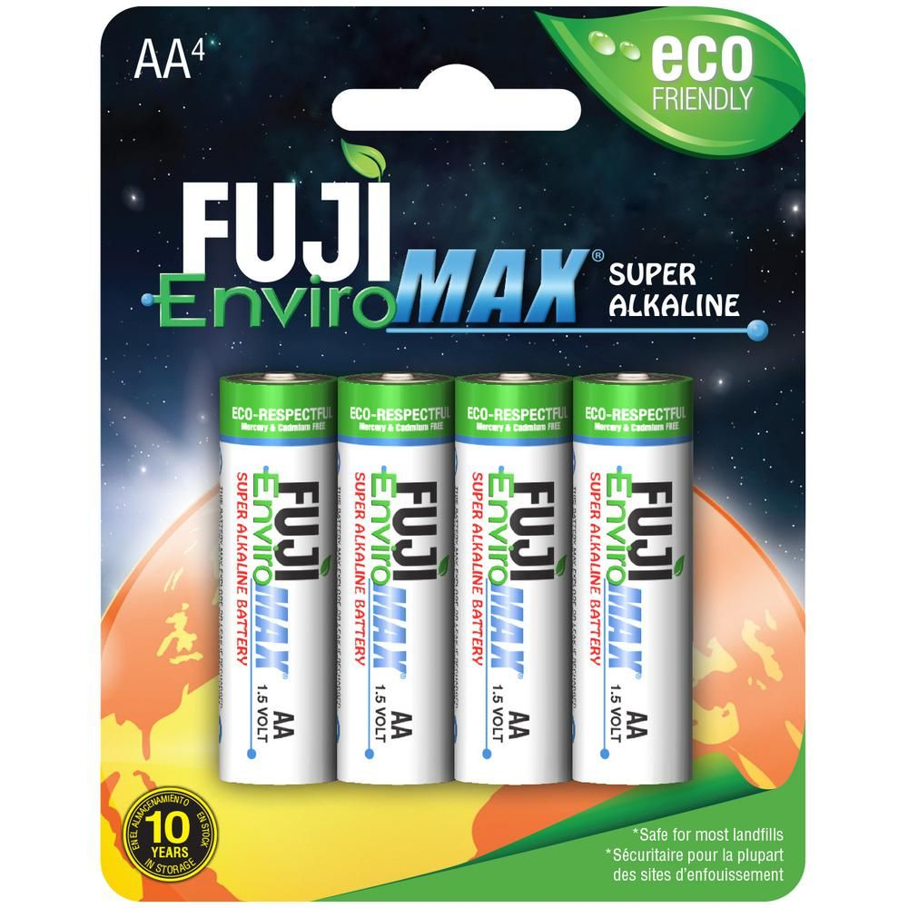 Super Alkaline Aa Battery 4 Pack 4300bp4 The Home Depot Alkaline Battery C Batteries Alkaline