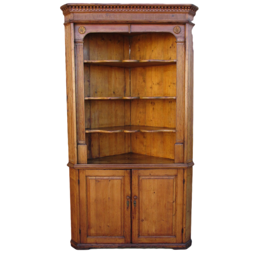 Antique Pine Corner Cabinet Hutch Antique Furniture - Antique Pine Corner Cabinet Hutch Antique Furniture Rustic