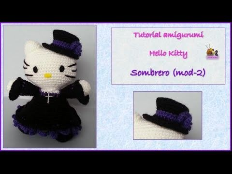 Tutorial amigurumi Hello Kittty - Sombrero (mod-2) | Ganchillo